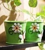 Green Designer Planter - Set of 2 by Go Hooked