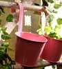 Pink Round Wall Planter - Set of Two by Go Hooked