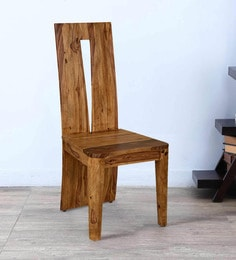 Granada Dining Chair In Natural Walnut Finish By @Home
