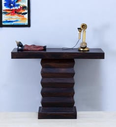 Greendale Console Table In Warm Chestnut Finish With Woodsworth