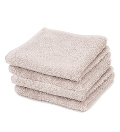 Grey 100% Cotton Face Towels - Set Of 4