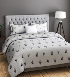 FASHION Geometric Pattern 200TC Cotton Queen Size Bed Sheet With 2 Pillow  Covers ...