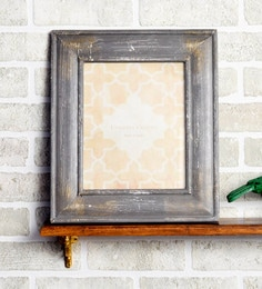 Grey MDF 10 X 1 X 12 Inch Rustic Design Photo Frame