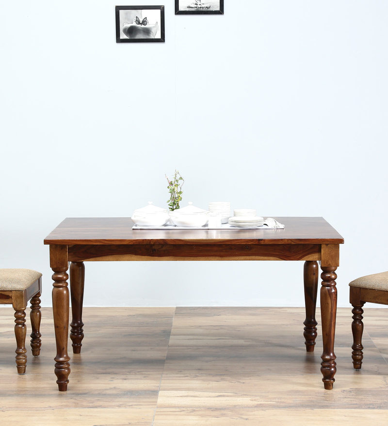Grafton Six Seater Dining Table in Provincial Teak Finish by Amberville