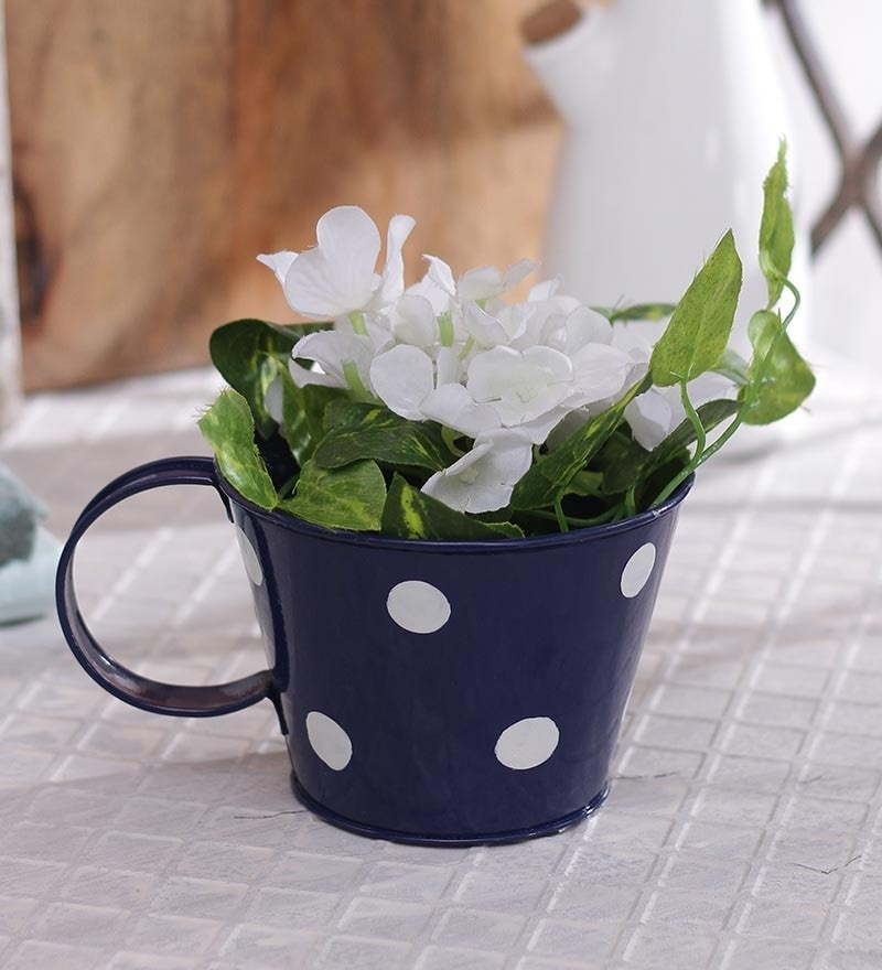 Blue Polka Dots Cup by Green Girgit