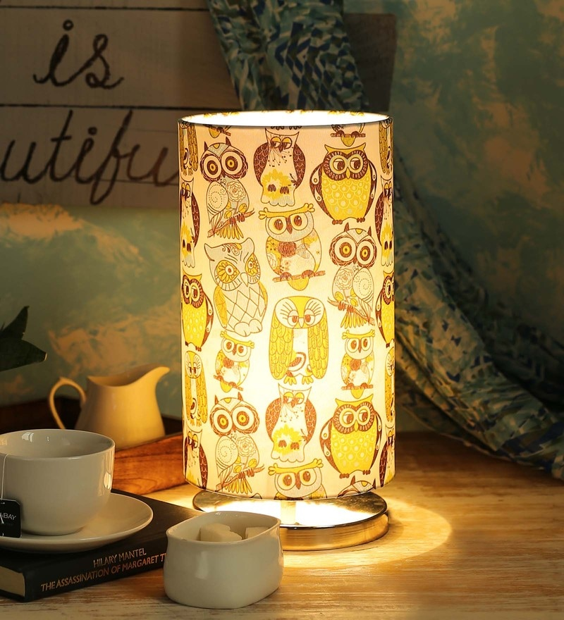 Multicolour Cotton Table Lamp by Green Girgit