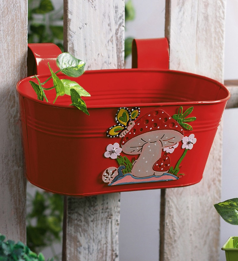 Mushroom Tub in Red Colour by Green Girgit