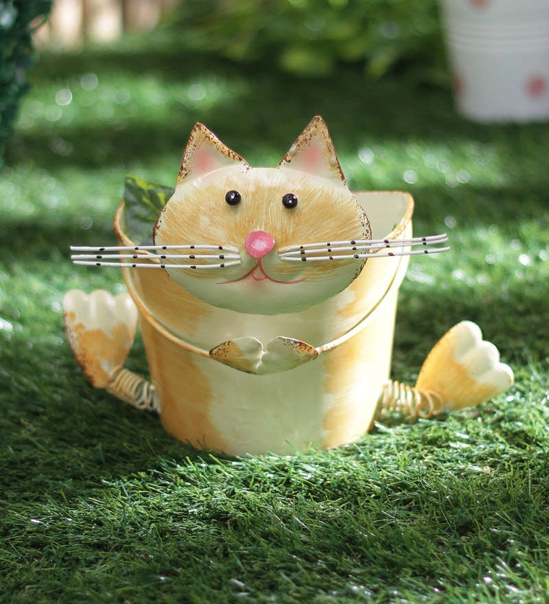 Small Cat Planter by Green Girgit