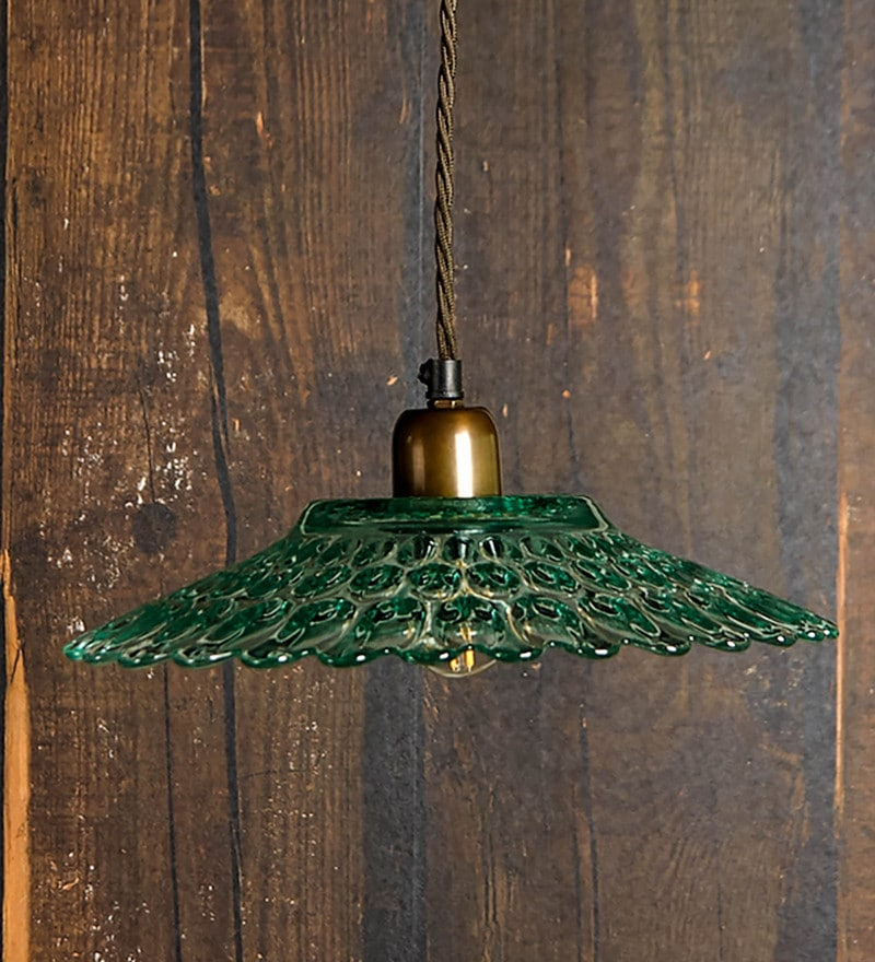 Buy green glass hanging light by ujjala online eclectic hanging click to zoom inout aloadofball Choice Image