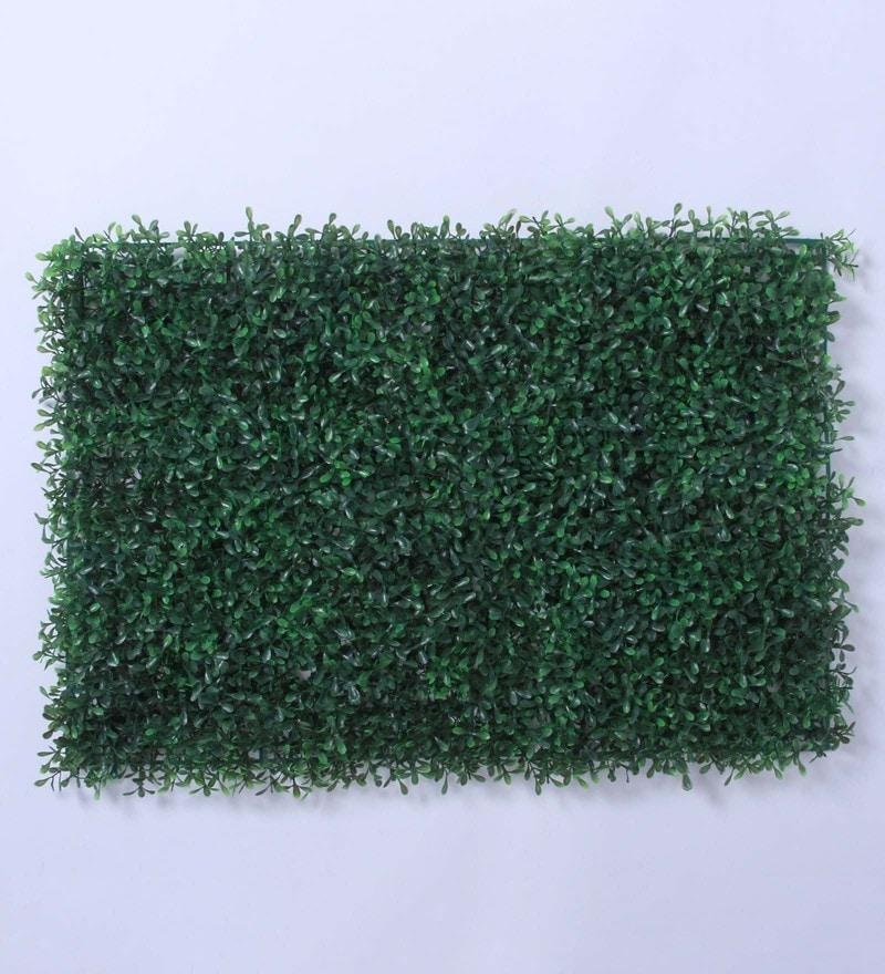 Green Plastic Artificial PVC Eucalyptus Green Tiles by Fourwalls - Set of 2