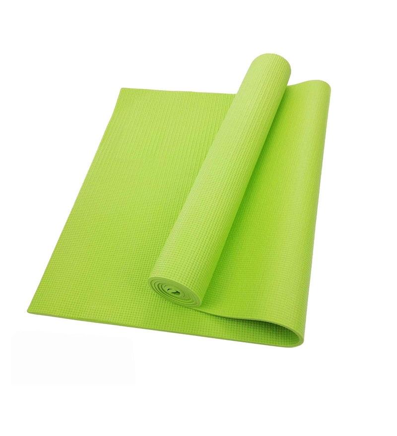 Green Pvc 68 x 24 Inch Yoga Mat by R Home