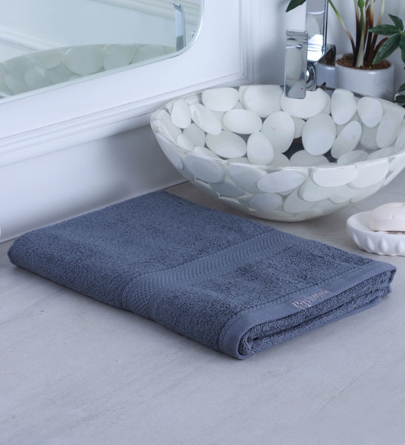 Grey 100% Cotton Bath Towel by Raymond Home