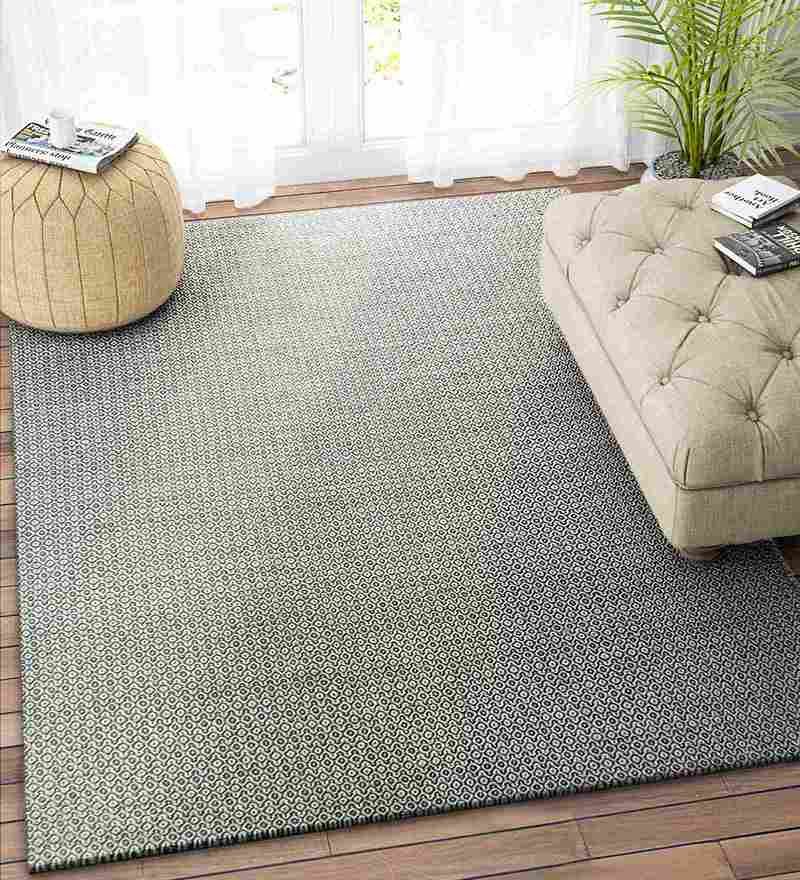 Grey Wool 90 x 60 Inch Carpet by Imperial Knots