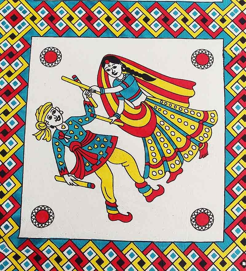 Grj India Rajasthani Multicolour Cotton Double Bed Sheet