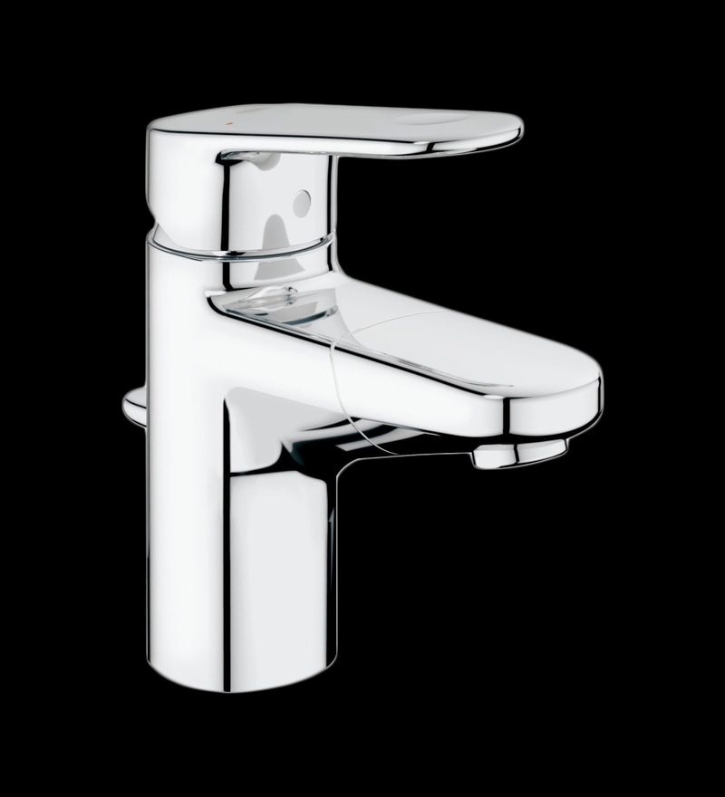 Grohe Europlus Brass Chrome Basin Tap with Pop-Up Waste & Retractable Spout