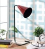 Red Iron Study Lamp by Grated Ginger