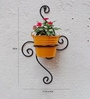 Green Gardenia Wrought Iron Pot Holder/Bracket