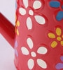 Red Metal Floral Hand-Painted Water Can by Green Girgit