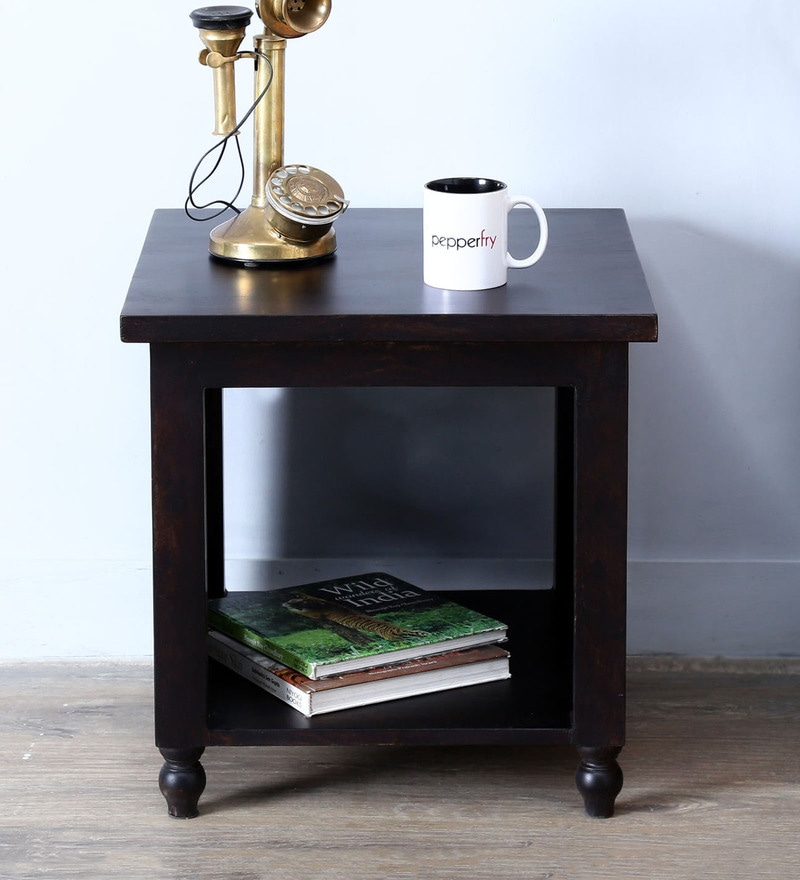 Gunther End Table in Warm Chestnut Finish by Amberville