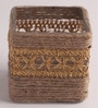 Brown Jute Pen Stand by Gupta Glass Gallery