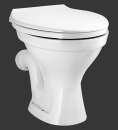 H & R Johnson Pearl-Ewc-Pf White Ceramic Water Closet With Seat Cover And Flush Tank