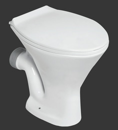 H & R Johnson Ruby-Ewc-Pf White Ceramic Water Closet With Seat Cover And Flush Tank