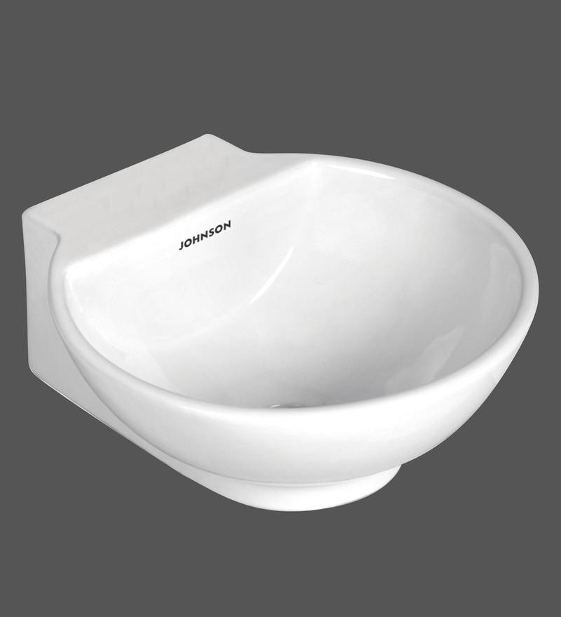 H & R Johnson Capri White Ceramic Wash Basin