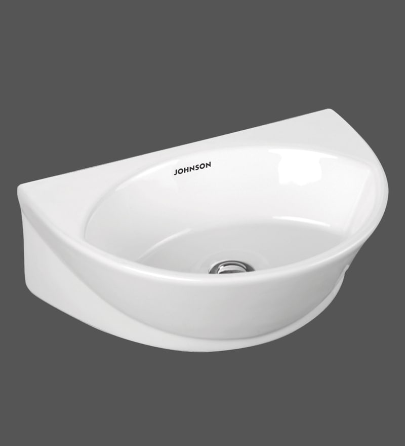H & R Johnson Ruby White Ceramic Wash Basin