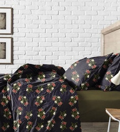 Haus And Sie Green And Black Cotton Bed In A Bag Bedding Set