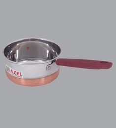 Hazel Alfa Premium Heavy Gauge Stainless Steel Sauce Pan With Copper Bottom ,850 Ml