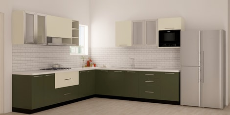 L Shaped Modular Kitchen Buy L Shaped Kitchen Design Online In India Best Price Pepperfry