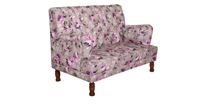 Buy Hamilton Two Seater Wing Chair With Lilac Flower