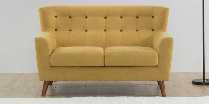 Havana Two Seater Sofa in Ochre Colour by CasaCraft