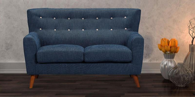 Havana Two Seater Sofa in Oxford Blue Colour by CasaCraft