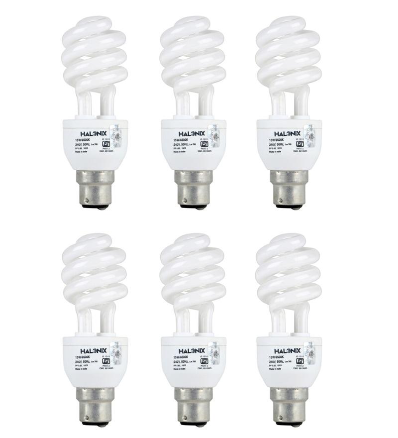 Halonix White 15 W CFL Light - Set of 6