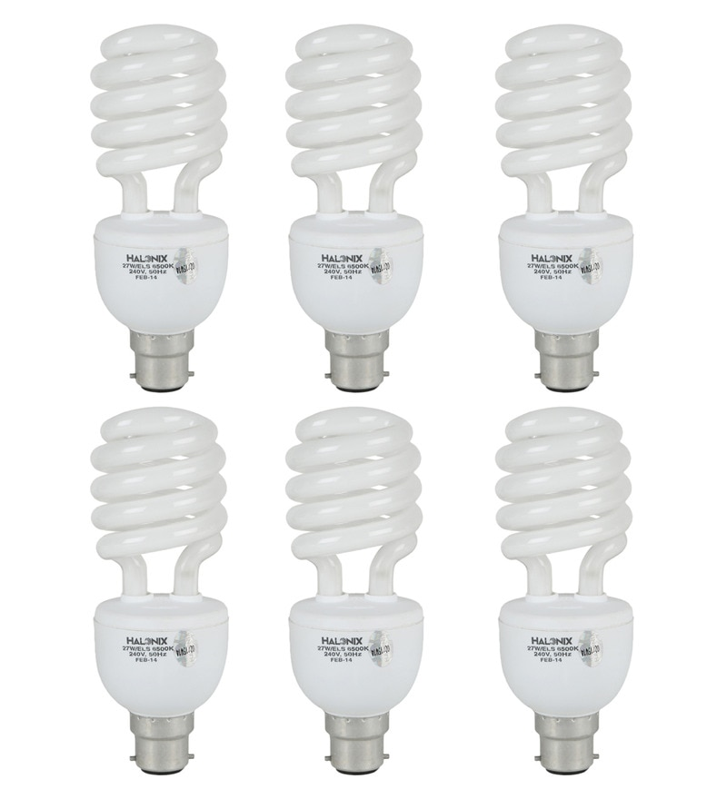 Halonix White 27 W CFL Light - Set of 6