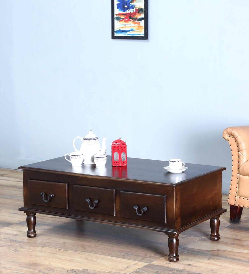 Buy Hamilton Coffee Centre Table in Warm Chestnut Finish by