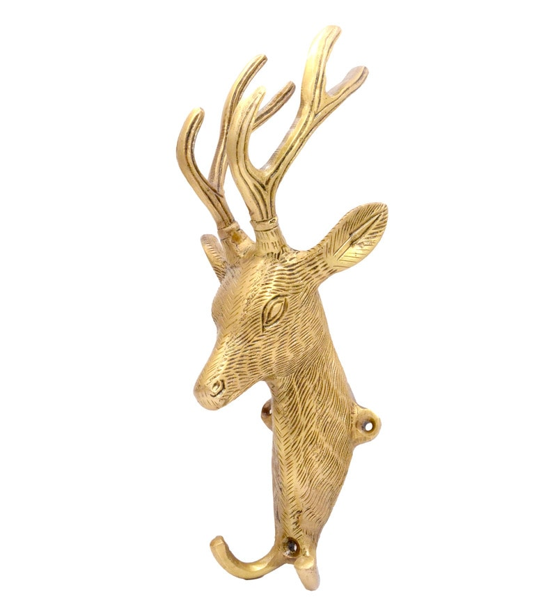 Antique Yellow Goat Head Design Key Holder by Handecor