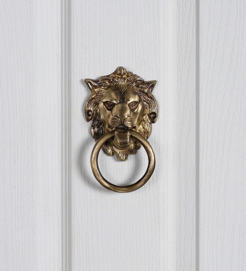 Handecor Brass Lion Mouth Door Knocker