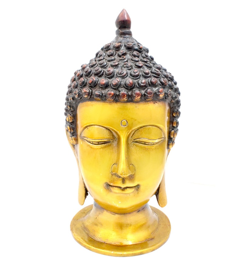 Multicolour Divine Buddha Head by Handecor