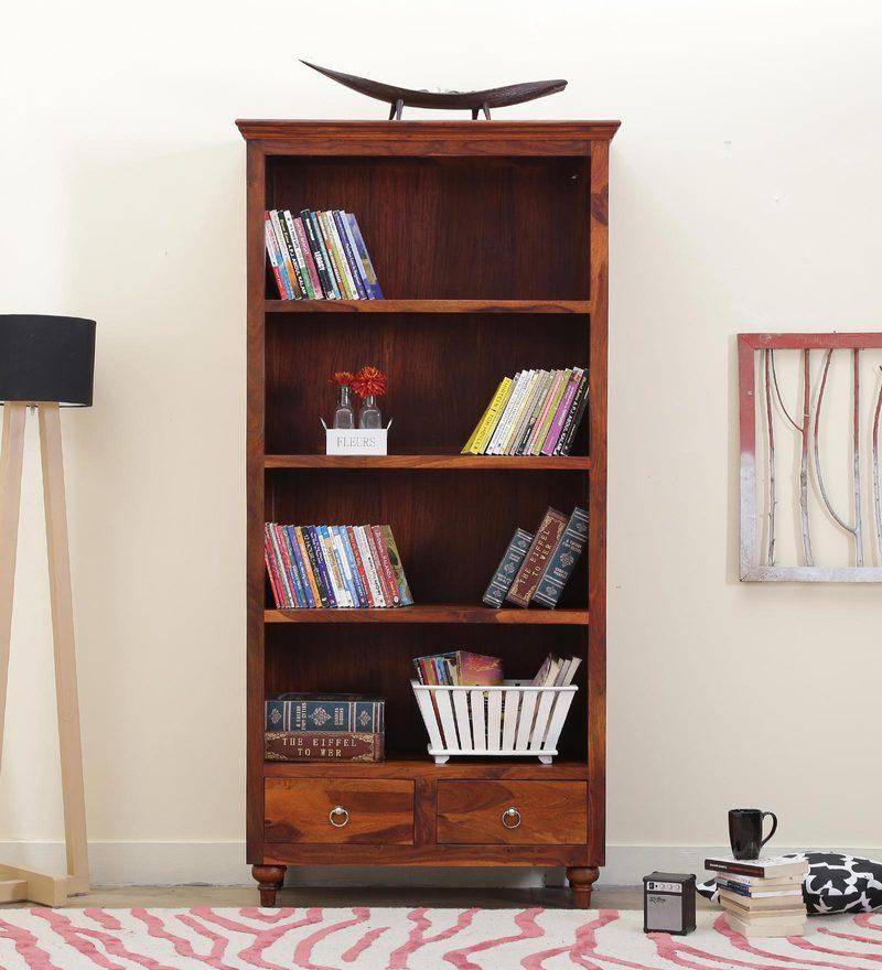 Harleston Book Shelf in Honey Oak Finish by Amberville
