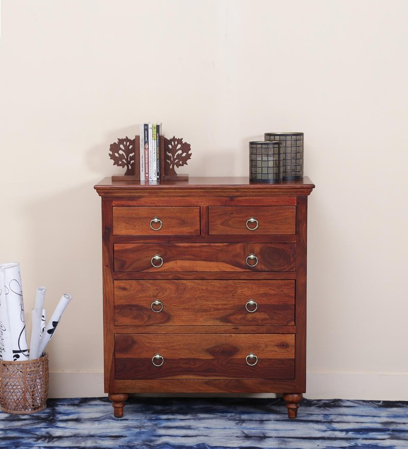 Harleston Chest Of Drawer in Honey Oak Finish by Amberville