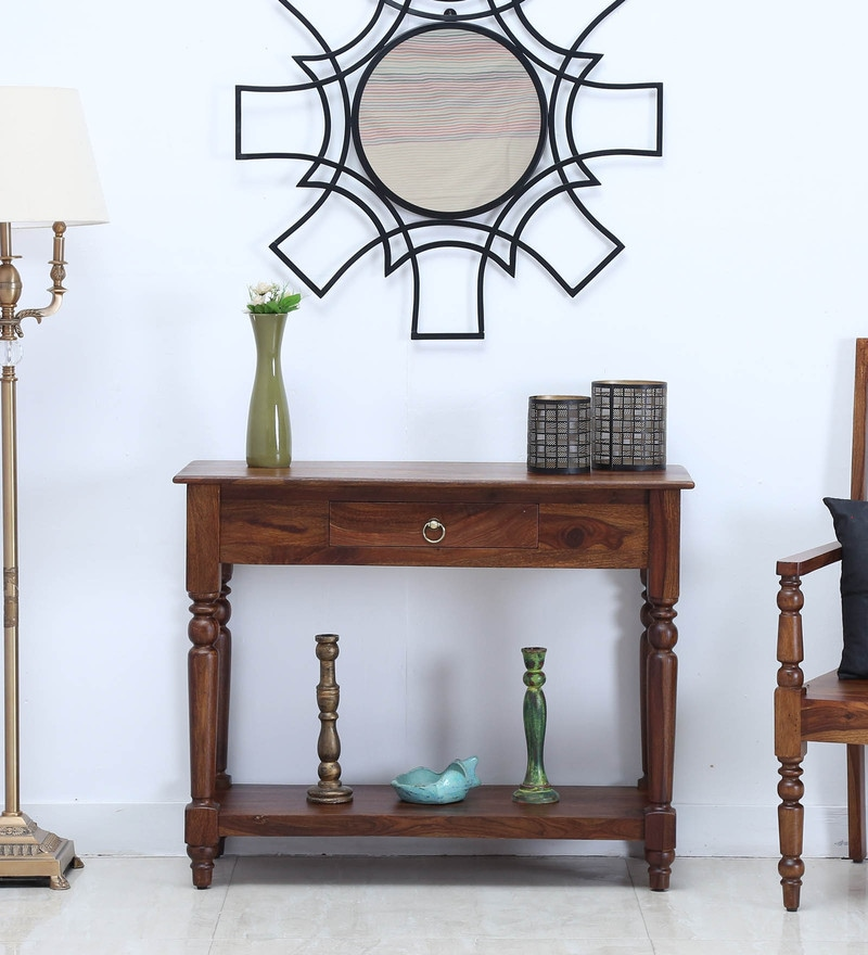 Harleston Console Table in Provincial Teak Finish by Amberville