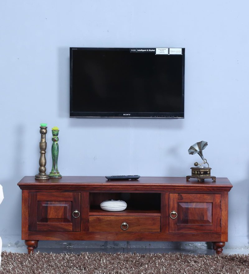 Harleston Entertainment Unit in Honey Oak Finish by Amberville