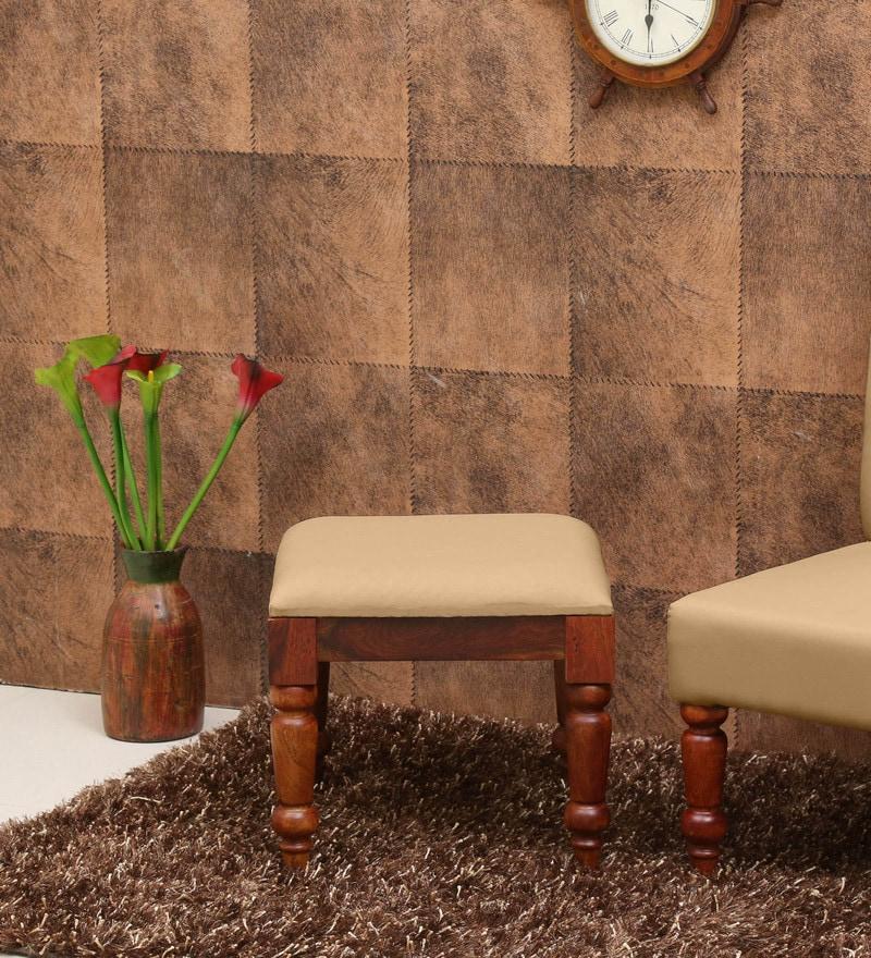 Buy Harleston Solid Wood Stool In Honey Oak Finish By