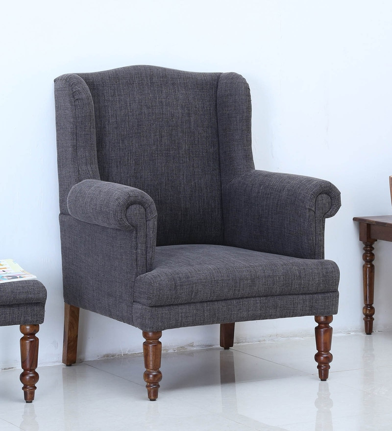 Harleston Wing Chair in Provincial Teak Finish by Amberville