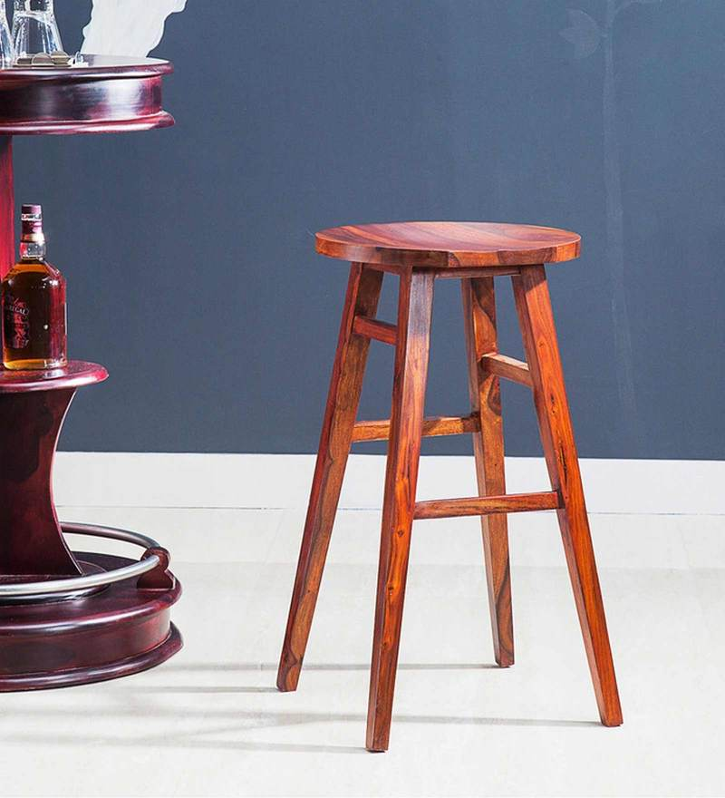 Harrington Bar Stool in Honey Oak Finish by Woodsworth