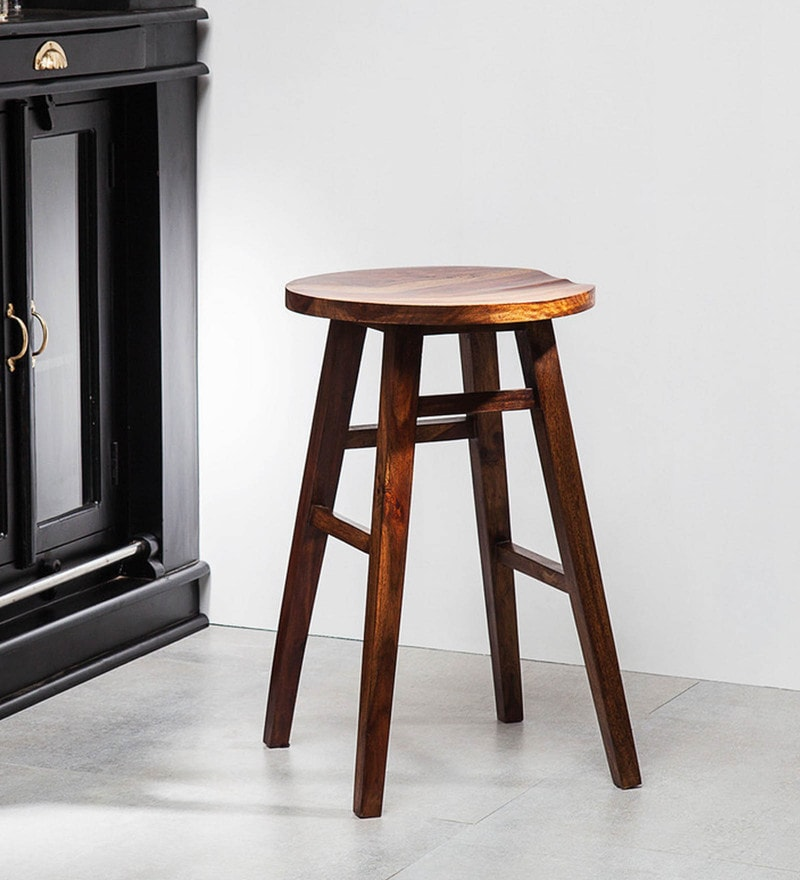Harrington Medium Bar Stool in Provincial Teak Finish by Woodsworth