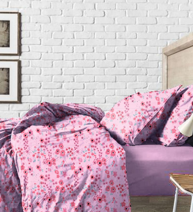 Haus and Sie Baby Pink Cotton Bed in a Bag Bedding Set
