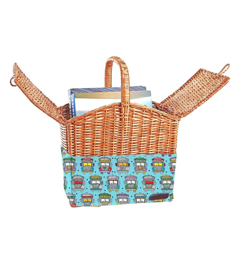 Haus and Sie Bamboo Picnic Basket